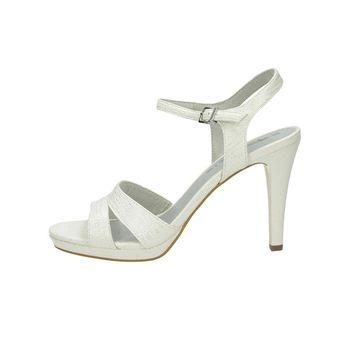 Tamaris dámské elegantní sandály na podpatku - bílé 6a438cb661