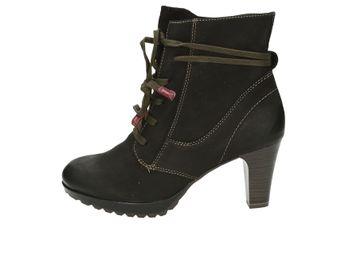 Tamaris dámské kotníkové boty - černé