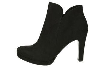 Tamaris dámské kotníkové boty na podpatku - černé 2199274b7e