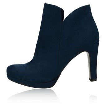 5d4c5f7e671 Tamaris dámské kotníkové boty na podpatku - modré