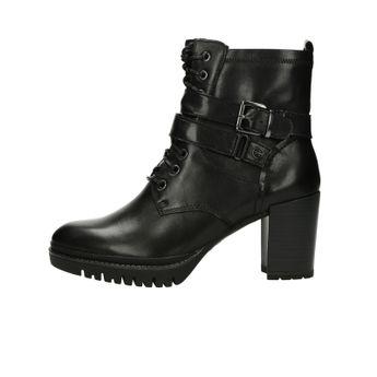 Tamaris dámské kožené kotníkové boty - černé