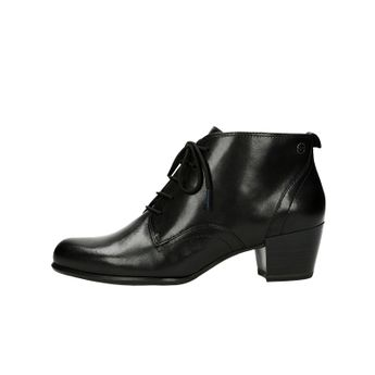 Tamaris dámské kožené kotníkové boty na podpatku - černé 7625e2b1f8