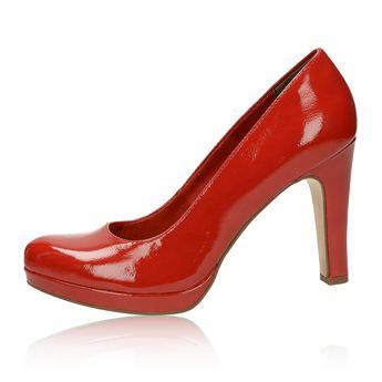 Tamaris dámské lakované lodičky - červené