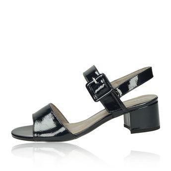 Tamaris dámské lakované sandály - tmavomodré