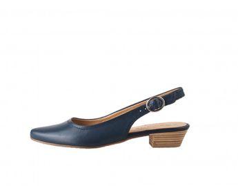 5b2349e0170 Tamaris dámské kožené sandály - modré