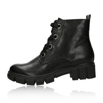 Tamaris dámské pohodlné kotníkové boty na zip - černé