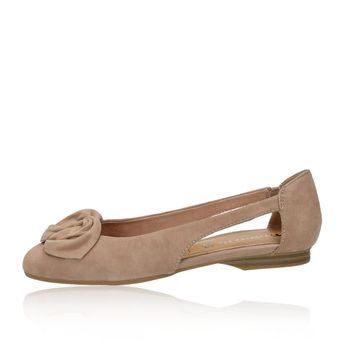 Tamaris dámské semišové balerínky - hnědé