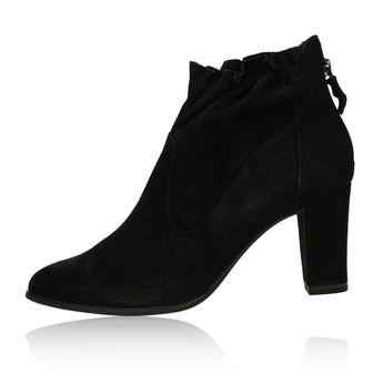 Tamaris dámské semišové kotníkové boty - černé
