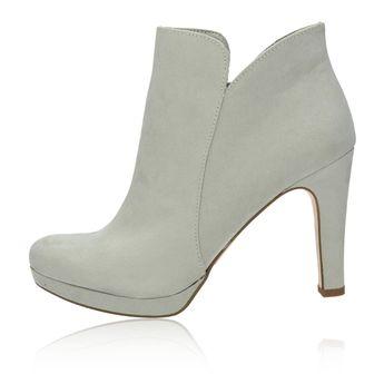Tamaris dámské stylové kotníkové boty - šedé