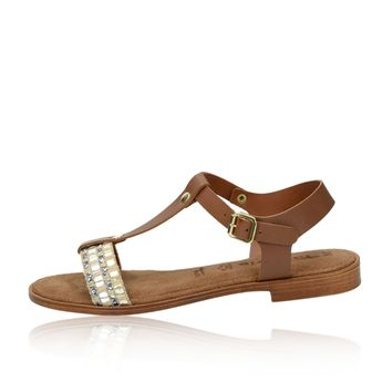 Tamaris dámské stylové sandály - hnědé b7843ee69c