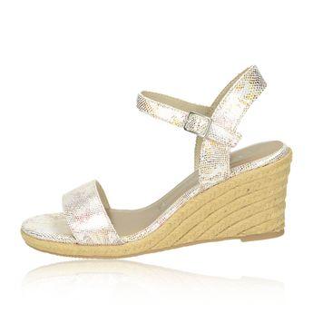 Tamaris dámské stylové sandály na klinové podrážce - růžové 472606c653