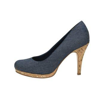 4dd3ae58680 Tamaris dámské textilní lodičky - modré