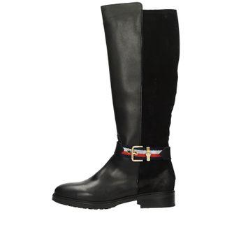 Tommy Hilfiger dámské kožené vysoké kozačky - černé d8566390b7