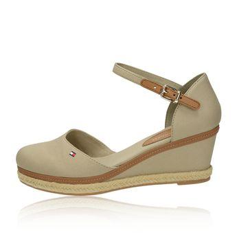 Tommy Hilfiger dámské pohodlné sandály - béžové