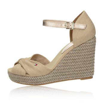 Tommy Hilfiger dámské stylové sandály - béžové