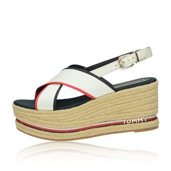 02a73ed6db94 Tommy Hilfiger dámské stylové sandály na klinové podrážce - bílé