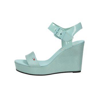 Tommy Hilfiger dámské stylové sandál na klinové podrážce - slabomodré