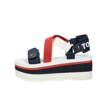 Tommy Hilfiger dámské štýlové sandály na klinové podrážce - vícebarevné