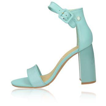 aca3c7f0a9a3 Tommy Hilfiger dámské štýlové sandály na vysokém podpatku - zelené