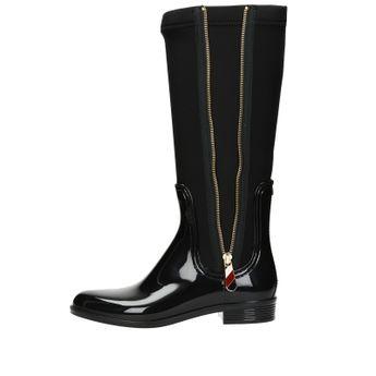 Tommy Hilfiger dámské stylové vysoké kozačky - černe