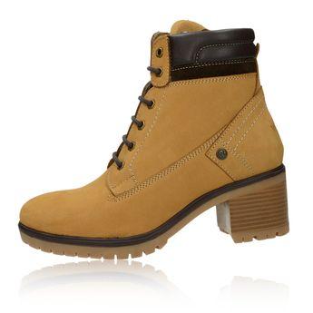 Wrangler dámské stylové kotníkové boty - koňakové