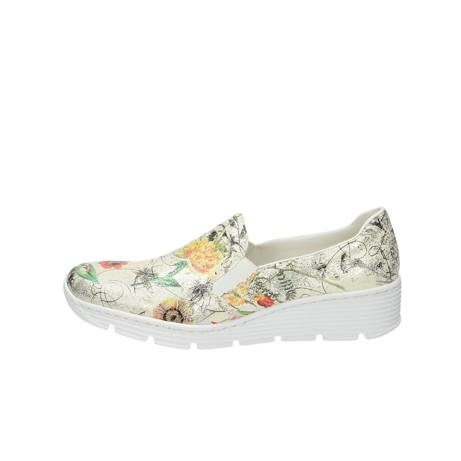 bd0355a6e9d1c Rieker dámské polobotky s květinovým vzorem - multicolor | 5876690 ...