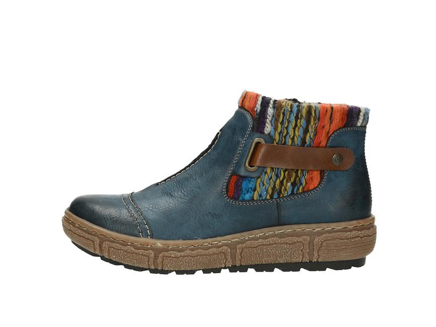 1aa70638a7e ... Rieker dámské zateplené kotníkové boty - modré ...