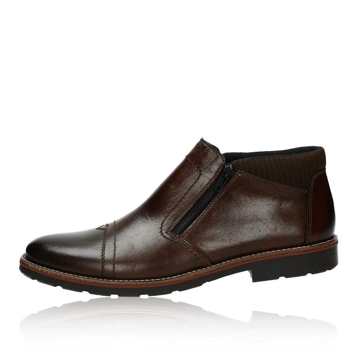 Rieker pánská kožená kotníková obuv - tmavohnědá Rieker pánská kožená  kotníková obuv - tmavohnědá ... 0b10f79ef90