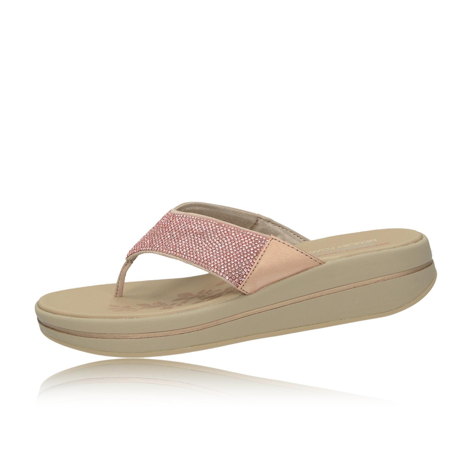Skechers dámské stylové plážovky s ozdobnými kamínky - růžové
