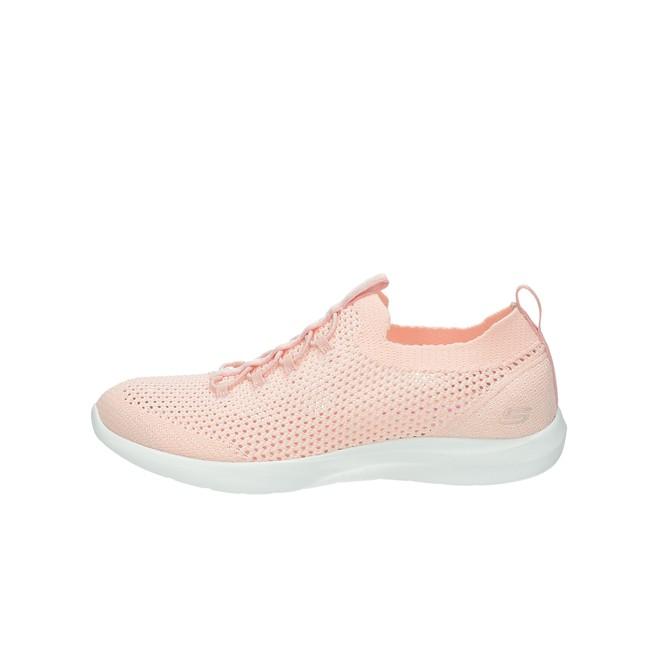 Skechers dámské textilní perforované tenisky - lososové