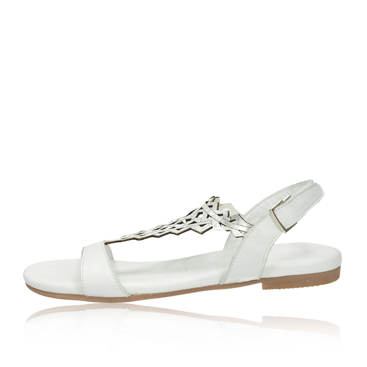 cbab4a91c340 ... Tamaris dámské elegantní sandály na suchý zip - bílé ...