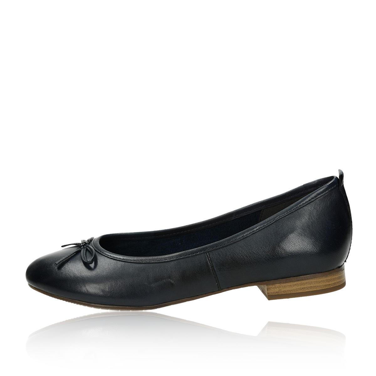 Tamaris dámské pohodlné balerínky - tmavomodré
