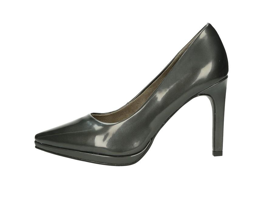... Tamaris dámské lesklé lodičky na vysokém podpatku - šedé ... 3e98792b9e