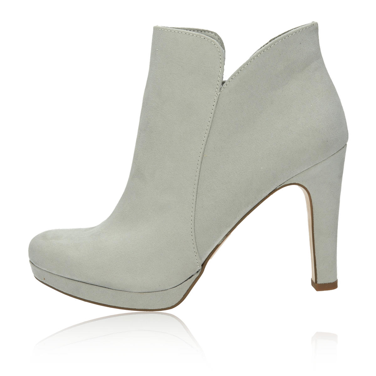 ... Tamaris dámské stylové kotníkové boty - šedé ... 64bbc3ca1a