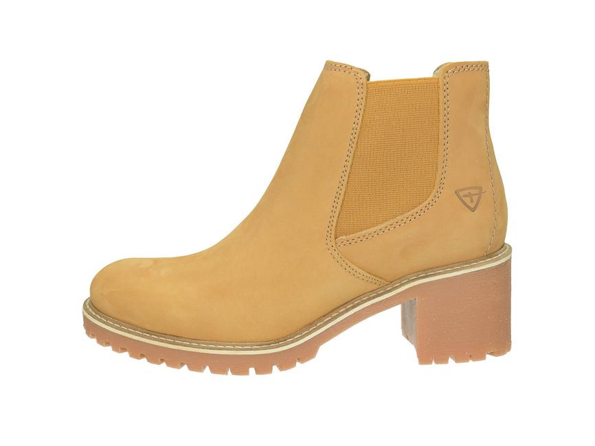 Tamaris dámské stylové kotníkové boty - žluté