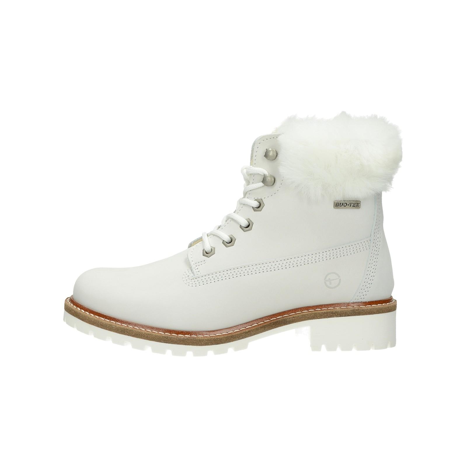 c14bb3ec9a ... Tamaris dámské stylové nízké kozačky - bílé ...
