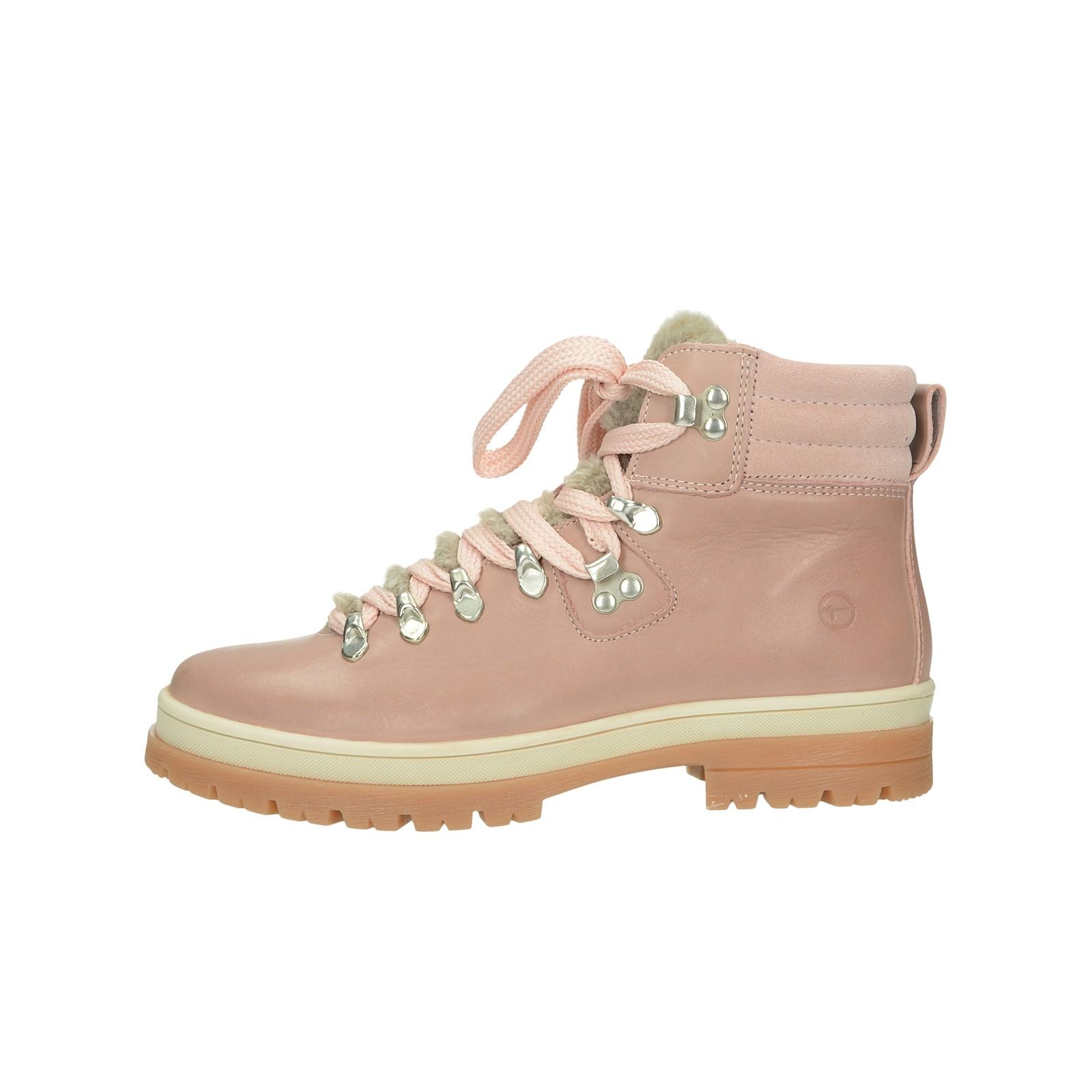 1846be843dd8c Kotníková obuv. Tamaris dámské stylové kotníkové boty - růžové Tamaris  dámské stylové kotníkové boty - růžové ...