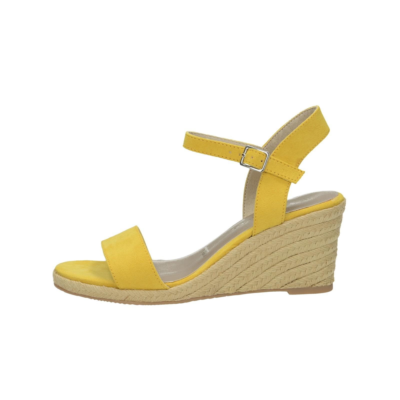 595cf2cc4da4 ... Tamaris dámské stylové sandály na klinové podrážce -žluté ...