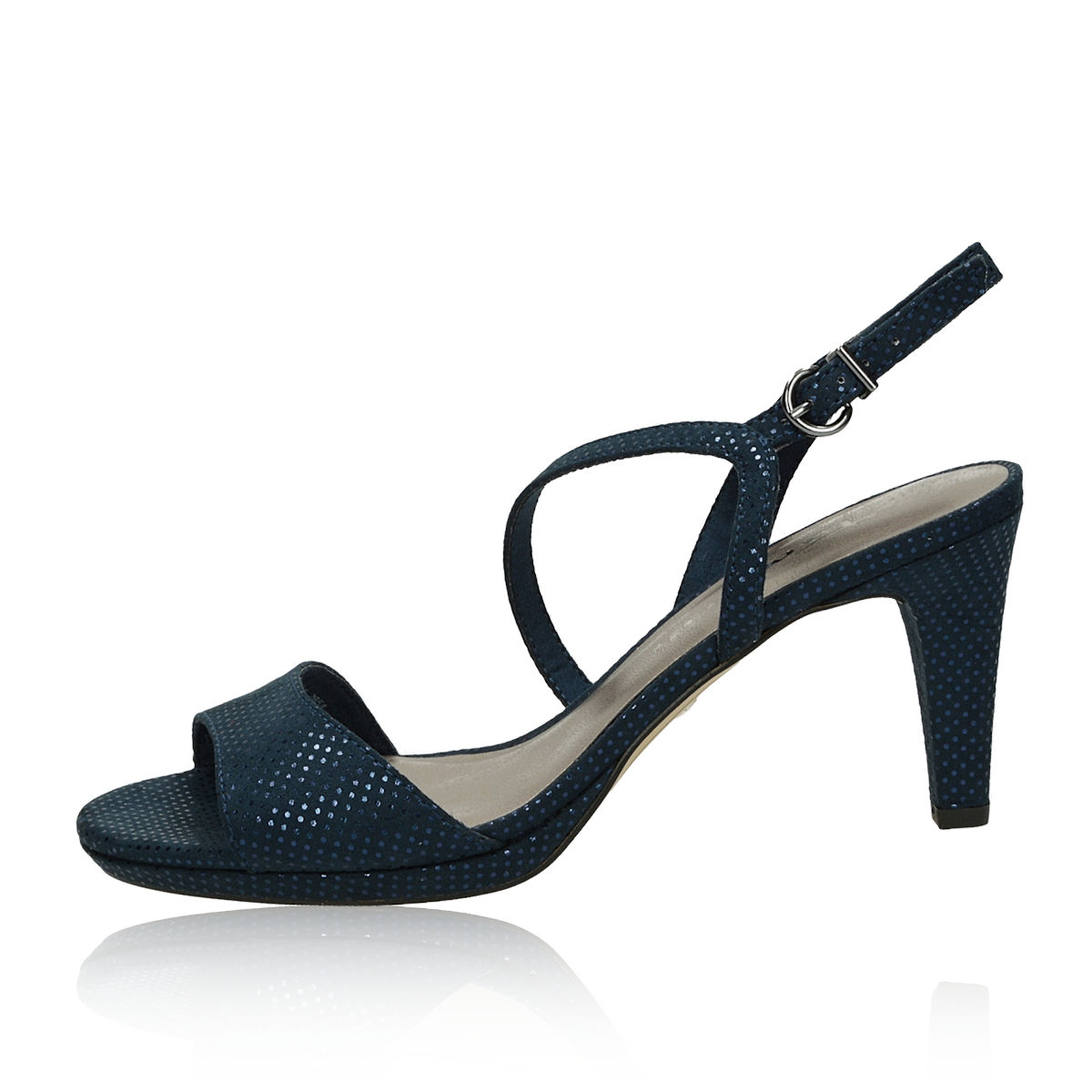7535961b8 Tamaris dámské stylové sandály na podpatku - tmavomodré | 2831822 ...