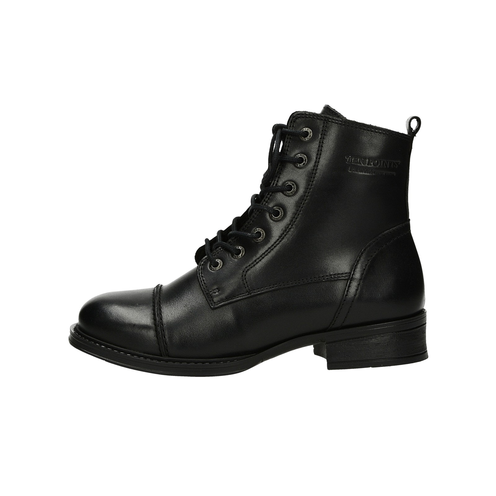 ... Ten Points dámské kožené kotníkové boty - černé ... cf573205eb