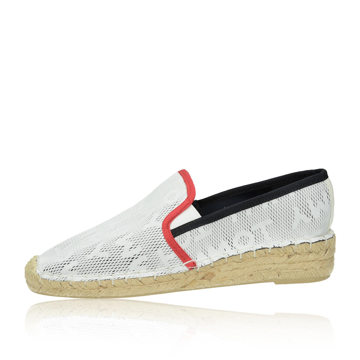 Tommy Hilfiger dámské pohodlné espadrilky - bílé