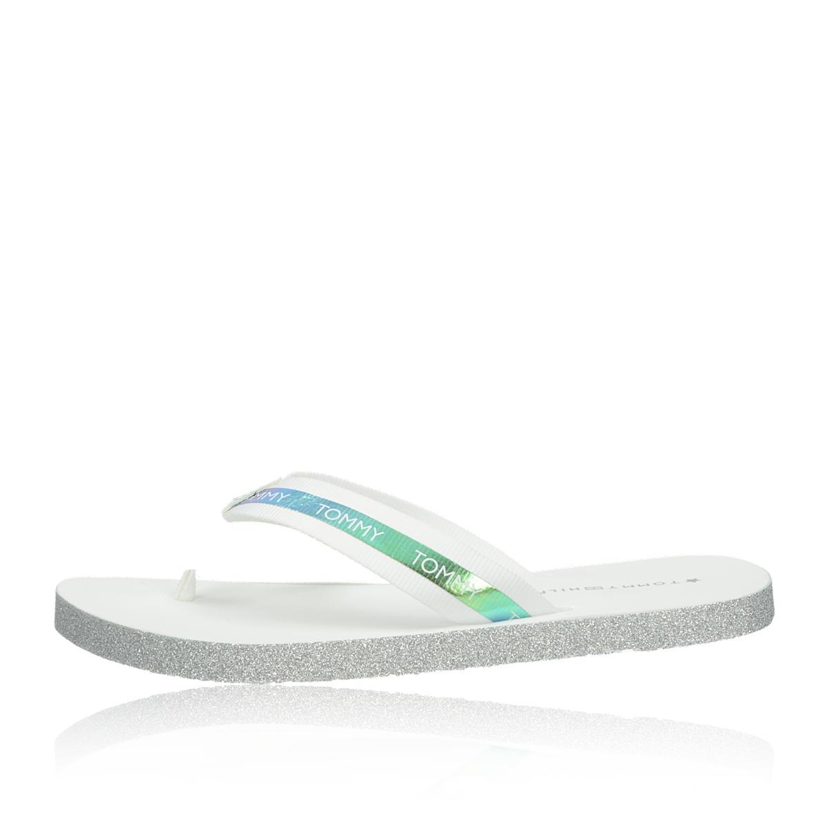 Tommy Hilfiger dámské stylové plážovky - bílé