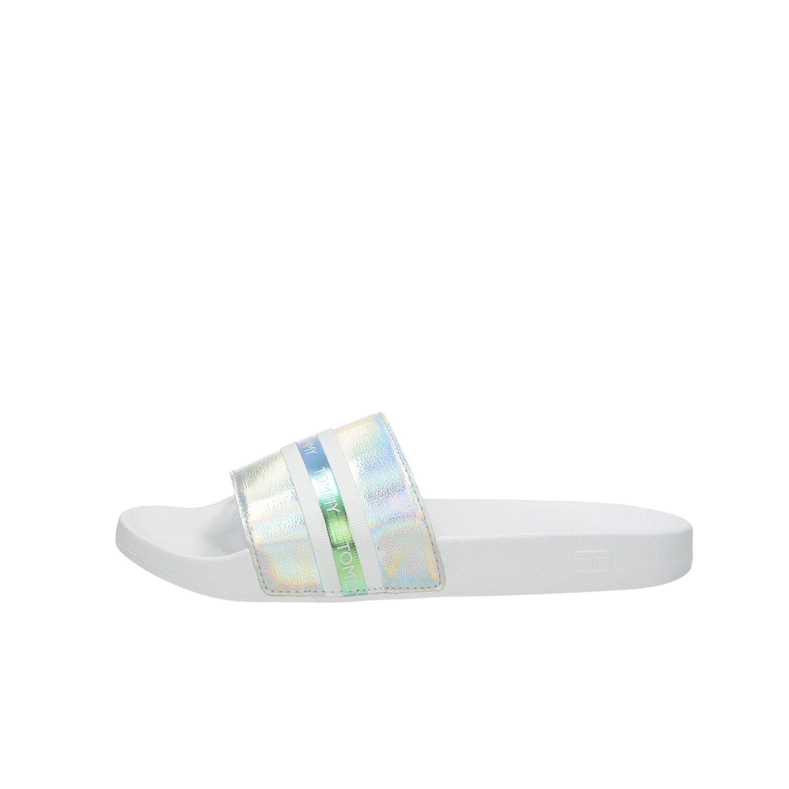 Tommy Hilfiger dámské stylové nazouváky - bílé