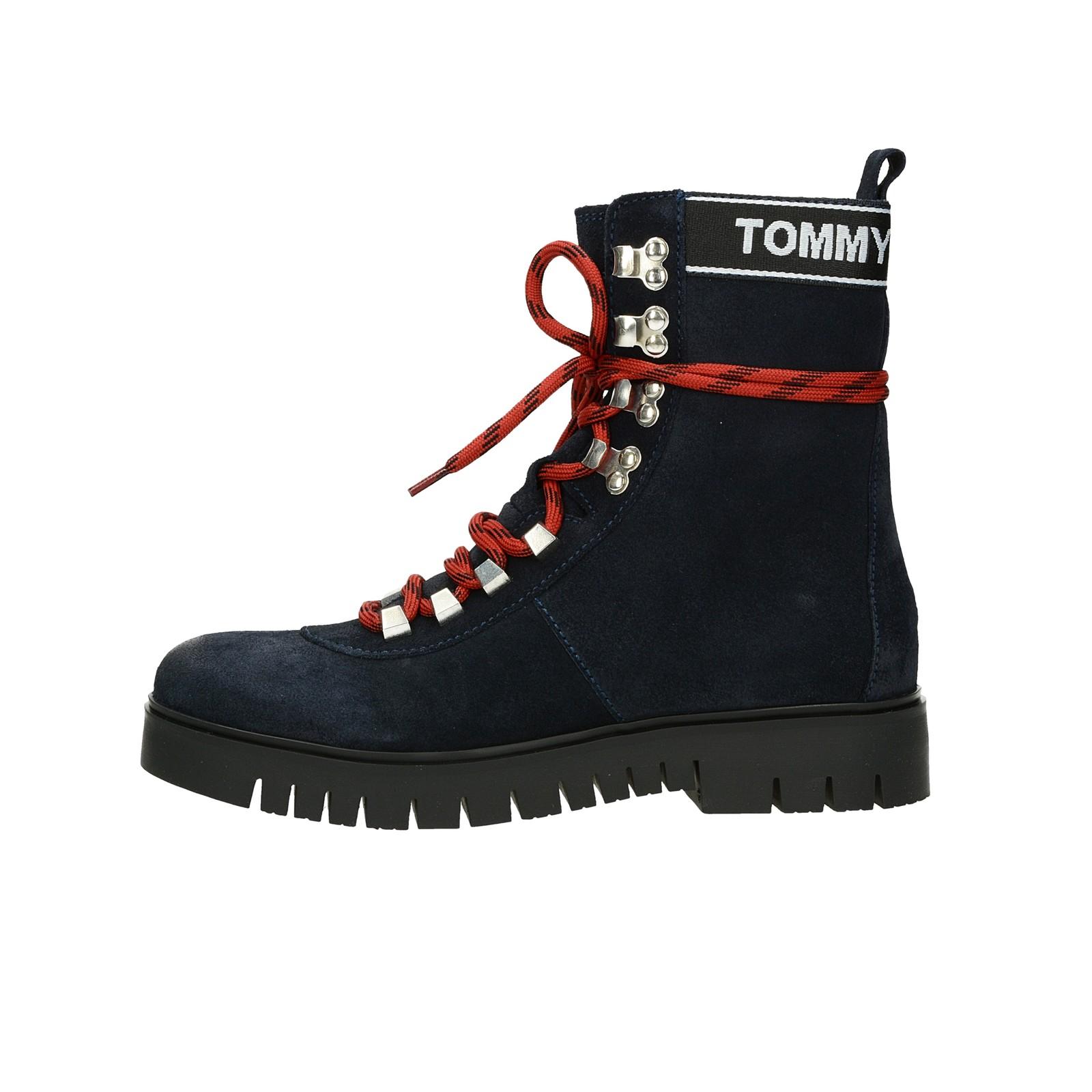 ... Tommy Hilfiger dámské vysoké kotníkové boty - modré ... d60878611d