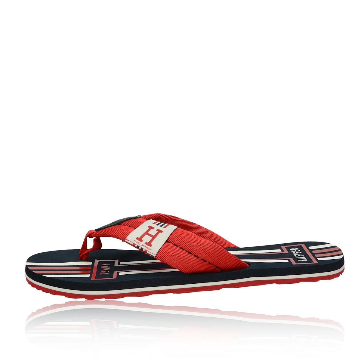 Tommy Hilfiger pánské stylové plážovky - červené